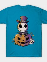 Spooky Jack Scary Pumpkin Halloween T-Shirt
