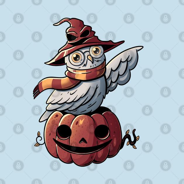 Spooky Magic Cute Funny Pumpkin Owl