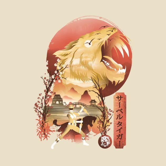 Yellow Ranger Ukiyo e