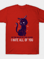 In The Name Of The Moon Funny Cute Cat T-Shirt