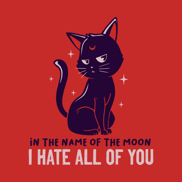 In The Name Of The Moon Funny Cute Cat