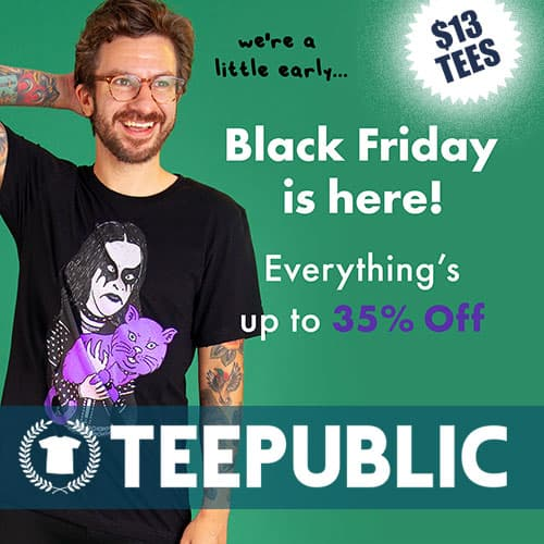 TeePublic Black Friday Thumbnail