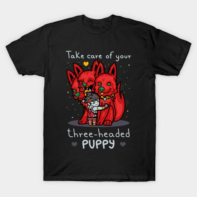 Three-headed puppy T-Shirt