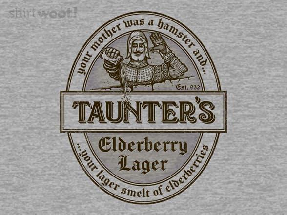 Your Lager Smelt of Elderberries