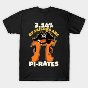3,14% of Sailors are Pi Rates T-Shirt