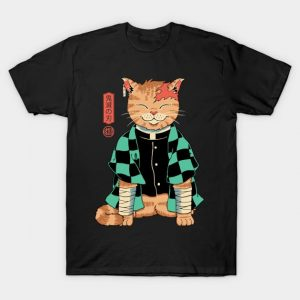Demon Slayer Cat T-Shirt