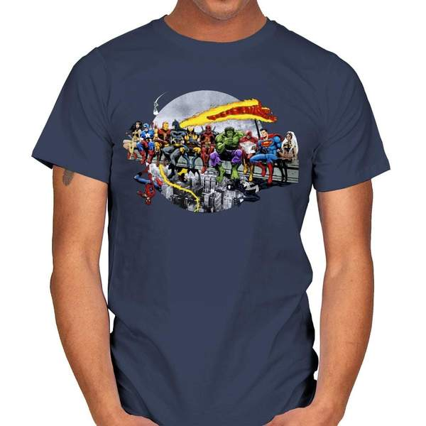 SUPERHEROES LUNCH ATOP A SKYSCRAPER T-Shirt