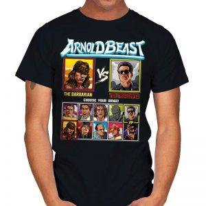 Arnold Beast Fighter - Conan vs Terminator T-Shirt