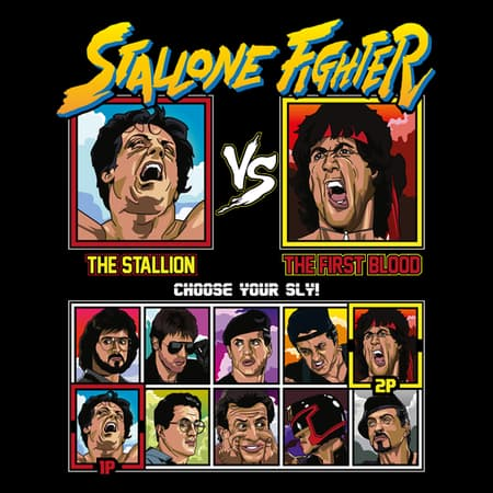 Stallone Fighter - Rocky vs Rambo