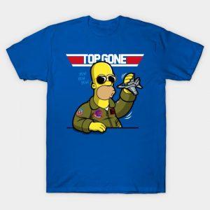 Homer Simpson Top Gun T-Shirt